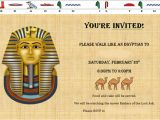 Egyptian Party Invitations Walk Like An Egyptian Party the Martha Project