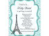 Eiffel tower Bridal Shower Invitations Eiffel tower Aqua Paris Bridal Shower Invitation Zazzle