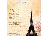 Eiffel tower Bridal Shower Invitations Eiffel tower Bridal Shower Invitation Zazzle