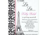 Eiffel tower Bridal Shower Invitations Eiffel tower Damask Paris Bridal Shower Invitation Zazzle