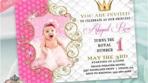 Electronic 1st Birthday Invitations Princess Birthday Party Invitation for Girl Evite