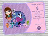 Electronic Party Invitations Uk Littlest Pet Shop Digital Birthday Invitation