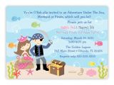 Electronic Party Invitations Uk Mermaid and Pirate Party Invitations Various Invitation