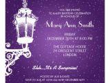 Elegant 60th Birthday Invitation Wording Elegant 60th Birthday Party Vintage Lamp Purple 5 25×5 25
