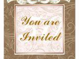 Elegant Birthday Invitation Template Elegant Happy 50th Birthday Template Invitations Zazzle