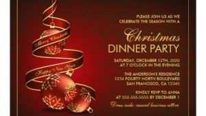 Elegant Christmas Dinner Party Invitations Elegant Christmas Dinner Party Invitation Template