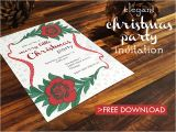 Elegant Christmas Party Invitation Template Free Download Free Elegant Christmas Party Printable Download Print