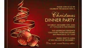 Elegant Holiday Party Invitation Template Elegant Christmas Dinner Party Invitation Template