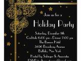 Elegant Party Invitation Templates Elegant Black Gold Christmas Party Invitations Zazzle
