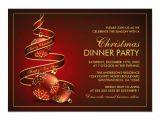 Elegant Party Invitation Templates Elegant Christmas Dinner Party Invitation Template
