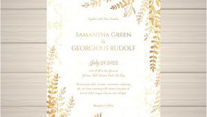 Elegant Wedding Invitation Card Template Elegant Wedding Invitation Card Template Vector Free