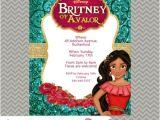 Elena Of Avalor Party Invitations Elena Of Avalor Princess Digital Invitations Etsy