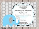 Elephant Birthday Invitation Template Blue Elephant Invitation Baby Shower Invitation Birthday