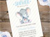 Elephant Birthday Invitation Template Elephant Baby Shower Invitation Printable Edit with