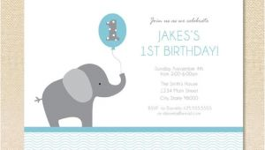 Elephant Birthday Invitation Template Elephant Birthday Invitation Set Of 12