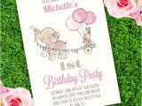 Elephant Birthday Invitation Template Elephant Birthday Party Invitation Template Edit with