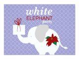 Elephant Birthday Invitation Template White Elephant Party Invitation Zazzle