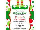 Elf On the Shelf Party Invitations Christmas Elf Feet Party Invitation by that Party Chick
