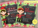 Elf On the Shelf Party Invitations Elf Invite Elf Girl or Boy Birthday Party by Bloomparties