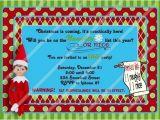 Elf On the Shelf Party Invitations Elf On the Shelf Birthday Invitation Cobypic Com