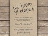 Elopement Party Invitation Wording 25 Best Ideas About Elopement Reception On Pinterest