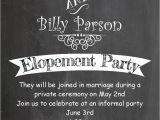 Elopement Party Invitation Wording after the Wedding Party Invitations or Elopement Party