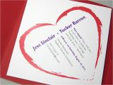 Elopement Party Invitation Wording Elopement Party Invitation Pocketfold Bold Red Heart Quirky