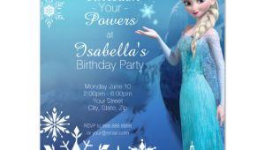 Elsa Birthday Invitation Template Frozen Elsa Birthday Party Invitation Zazzle Com