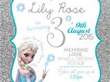 Elsa Party Invitation Template Disney Frozen Birthday Invitation Queen Elsa Anna Glitter