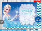 Elsa Party Invitation Template Disney Frozen Elsa Birthday Invitation by Templatemansion