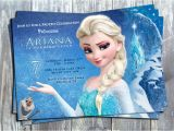 Elsa Party Invitation Template Disney Princess Frozen Elsa Birthday Party Printable