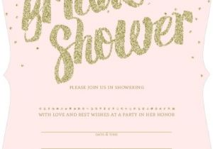 Email Bridal Shower Invitations Templates Pink and Gold Glitter Bridal Shower Invitation