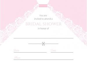 Email Bridal Shower Invitations Templates White Wedding Dress Fill In the Blank Bridal Shower Invite