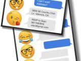 Emoji Birthday Invitation Template Emoji Birthday Invitations Free Printable Template