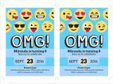 Emoji Birthday Invitation Template Emoji Invitation Template songwol E F96