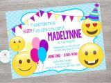Emoji Birthday Invitations Free Emoji Emoticon Inspired Birthday Party Invitation