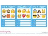 Emoji Birthday Invitations Free Free Emoji Party Printables