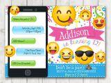 Emoji Birthday Invitations Free Printable Emoji Birthday Party Invitation Emoji Invitations