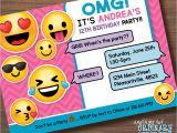 Emoji Birthday Invitations Free Printable Emoji Birthday Party Invite Girl S Emoji