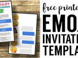 Emoji Party Invitation Template Emoji Birthday Invitations Free Printable Template Paper