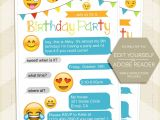 Emoji Party Invitation Template Emoji Party Invitation iPhone Invitation Emoji Birthday