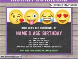 Emoji Party Invitation Template Emoji Party Invitations Template Girls Party