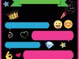 Emoji Party Invitation Template Free Printable Emoji Chat Invitation Template Free
