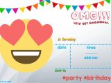 Emoji Party Invitation Template Free Printable Emoji Invitation Template Free Invitation