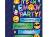 Emoji Party Invitation Template Fun Emoji Party Invitation Zazzle