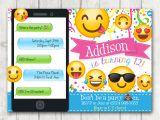 Emoji Party Invitation Template Printable Emoji Birthday Party Invitation Emoji Invitations