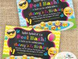 Emoji Pool Party Invitations Emoji Emoticons Emojis Pool Party Printable Invitation Not