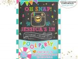 Emoji Pool Party Invitations Emoji Pool Party Birthday Invitation Instagram Pool Party
