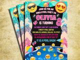 Emoji Pool Party Invitations Emoji Pool Party Invitation Emoji Icons Birthday Party