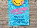 Emoji Pool Party Invitations Emoji Pool Party Invitation Printable Digital Print by